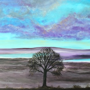 (CreativeWork) The healing tree  by Fiona Farrugia. acrylic-painting. Shop online at Bluethumb.