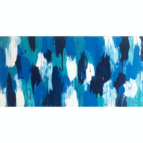 (CreativeWork) Into The Blue by Cassy Turnbull. Acrylic Paint. Shop online at Bluethumb.
