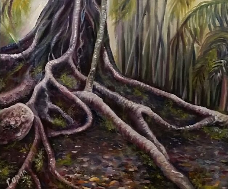 (CreativeWork) Roots by Susan Capan. oil-painting. Shop online at Bluethumb.