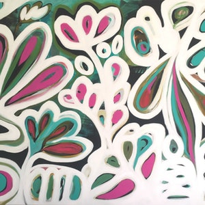 (CreativeWork) Winter Garden II by Sarah Morrow. arcylic-painting. Shop online at Bluethumb.