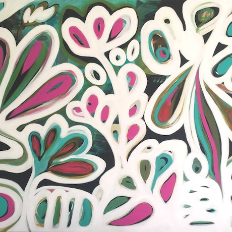 (CreativeWork) Winter Garden II by Sarah Morrow. Acrylic Paint. Shop online at Bluethumb.