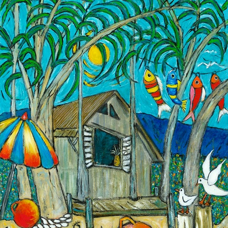 (CreativeWork) Beach Shack Ed. 51 of 150 by Terry Johnson. Reproduction Print. Shop online at Bluethumb.