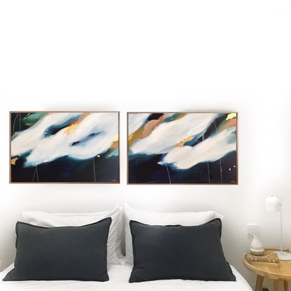 (CreativeWork) Every Night And Day Diptych  by Marnie McKnight. #<Filter:0x00007f54a8d03758>. Shop online at Bluethumb.