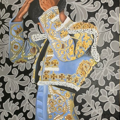 "(CreativeWork) Matador ""El Corazon"" by Javi Sanchez. Acrylic Paint. Shop online at Bluethumb."