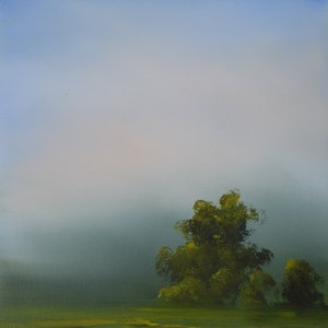 (CreativeWork) Morning Stillness by Elaine Green. oil-painting. Shop online at Bluethumb.