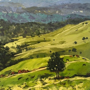 (CreativeWork) Montville by Meredith Howse. oil-painting. Shop online at Bluethumb.