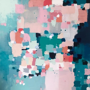 (CreativeWork) Uncontained by Anna Bektash. arcylic-painting. Shop online at Bluethumb.