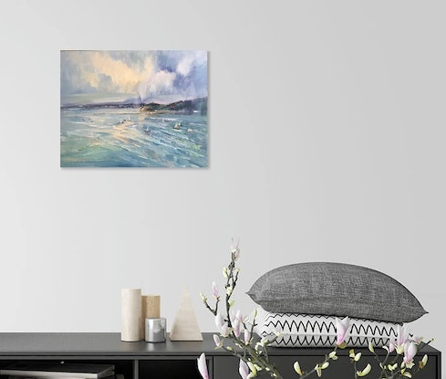 (CreativeWork) Storm approaching - Sorrento by Liliana Gigovic. #<Filter:0x00007f7b71282398>. Shop online at Bluethumb.