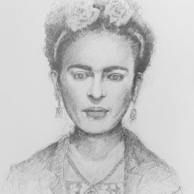 (CreativeWork) Frida (Framed) by Chris Andrew. drawing. Shop online at Bluethumb.