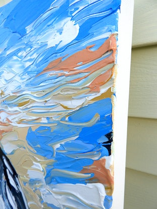 (CreativeWork) Sandy the Seagull by Lisa Fahey. Acrylic Paint. Shop online at Bluethumb.