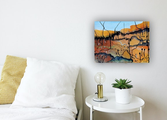 (CreativeWork) Timeless by Doodie Herman. Acrylic Paint. Shop online at Bluethumb.