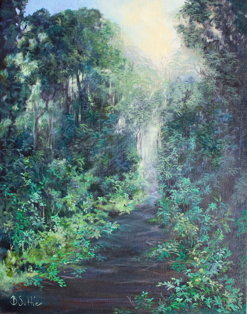 (CreativeWork) Border Ranges Path by Barbara Suttie. Oil Paint. Shop online at Bluethumb.