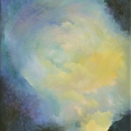 (CreativeWork) In and out of the Caldera by Barbara Suttie. Oil Paint. Shop online at Bluethumb.
