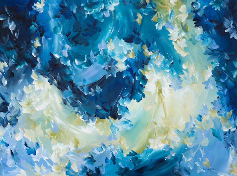 (CreativeWork) Passionate Storm by Amber Gittins. arcylic-painting. Shop online at Bluethumb.