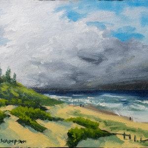 (CreativeWork) in comes the clouds by Zac Hampson. oil-painting. Shop online at Bluethumb.