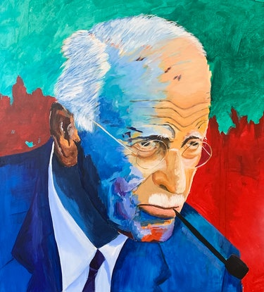 (CreativeWork) Carl Jung by Tom Roso. Acrylic Paint. Shop online at Bluethumb.