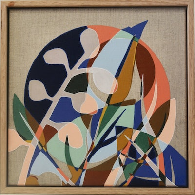 (CreativeWork) Leaf Loop by Tamara Armstrong. acrylic-painting. Shop online at Bluethumb.
