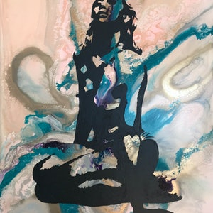 (CreativeWork) Settling Dust by Rachael Higby. arcylic-painting. Shop online at Bluethumb.