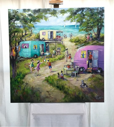 (CreativeWork) CHILDHOOD MEMORIES by Ivana Pinaffo. Acrylic Paint. Shop online at Bluethumb.