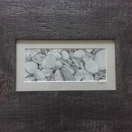 (CreativeWork) Pebble Beach by Ilona Kovacs. Drawings. Shop online at Bluethumb.