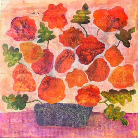 (CreativeWork) Bunches by sue carter. Mixed Media. Shop online at Bluethumb.