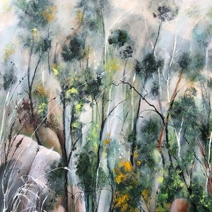 (CreativeWork) High Country 3. Revisited. by Marion Rispin. acrylic-painting. Shop online at Bluethumb.