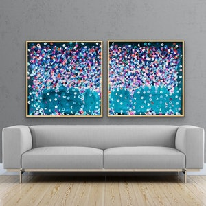 (CreativeWork) gethsemane 184x92 framed diptych by Sophie Lawrence. arcylic-painting. Shop online at Bluethumb.