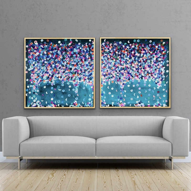 (CreativeWork) gethsemane 184x92 framed diptych by Sophie Lawrence. acrylic-painting. Shop online at Bluethumb.