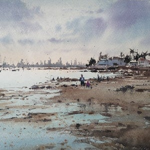 (CreativeWork) Brighton  by jianqiang xu. watercolour. Shop online at Bluethumb.