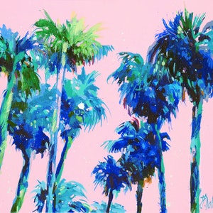 (CreativeWork) Sanctuary Palms by Judith Dalozzo. arcylic-painting. Shop online at Bluethumb.