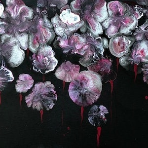 (CreativeWork) Flowers 2 abstract art painting  by Debra Ryan. #<Filter:0x00007f7cbc5ed7c0>. Shop online at Bluethumb.
