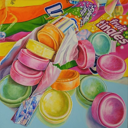 (CreativeWork) Sweet Tingles by Delma White. Oil Paint. Shop online at Bluethumb.