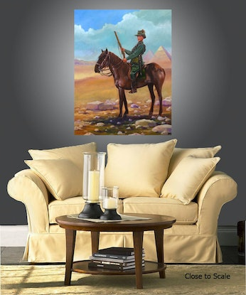 (CreativeWork) Light Horse by Max Horst  Sokolowski. Oil Paint. Shop online at Bluethumb.