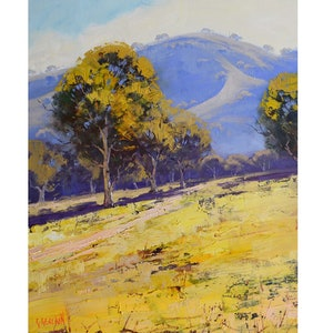 (CreativeWork) Dry summer Sofala by Graham Gercken. oil-painting. Shop online at Bluethumb.