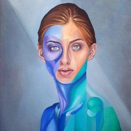 (CreativeWork) Front Facing Version 1 by Jonny Southgate. Oil Paint. Shop online at Bluethumb.