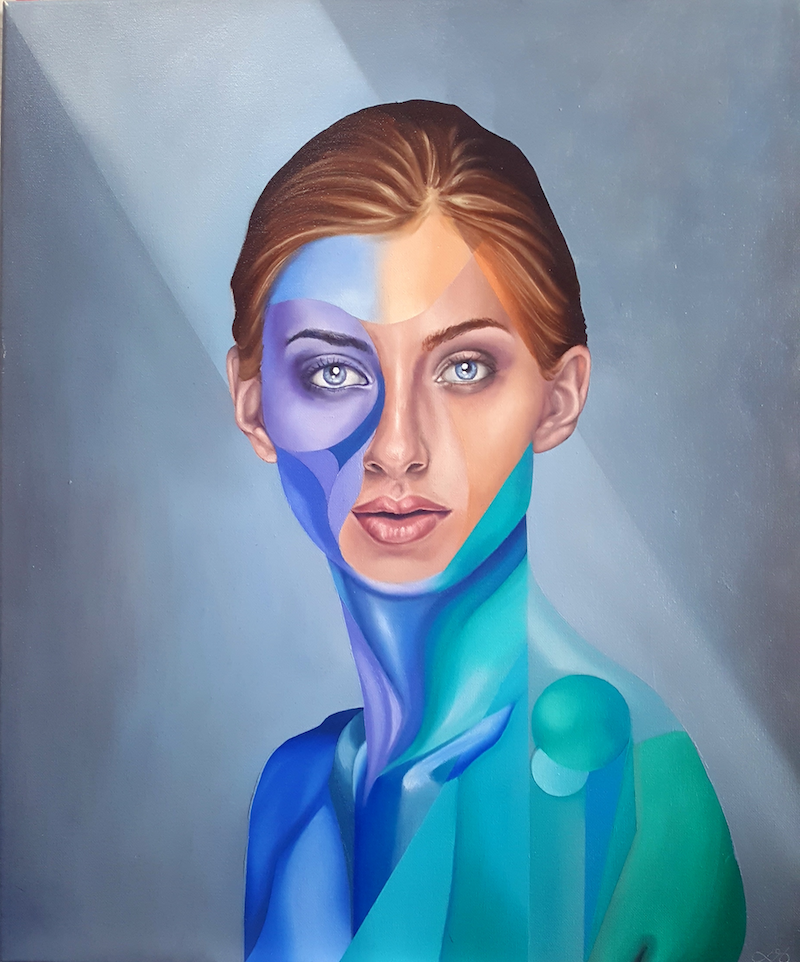 (CreativeWork) Front Facing Version 1 by Jonny Southgate. oil-painting. Shop online at Bluethumb.
