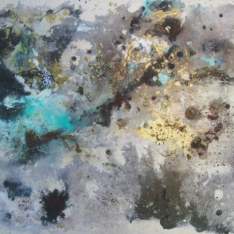 (CreativeWork) Winter Glow by Jamie Saxe. Mixed Media. Shop online at Bluethumb.