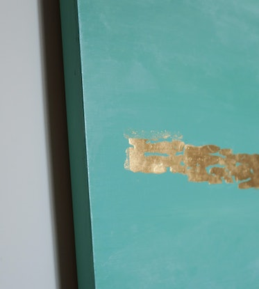 (CreativeWork) Windows  (in 24k gold leaf) by Barry Johnson. Mixed Media. Shop online at Bluethumb.
