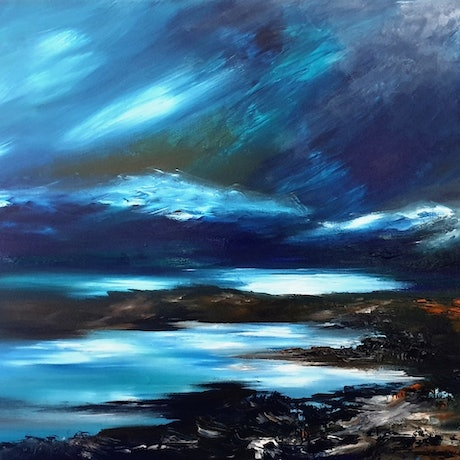 (CreativeWork) Central Highlands by Alice Howell. Acrylic Paint. Shop online at Bluethumb.