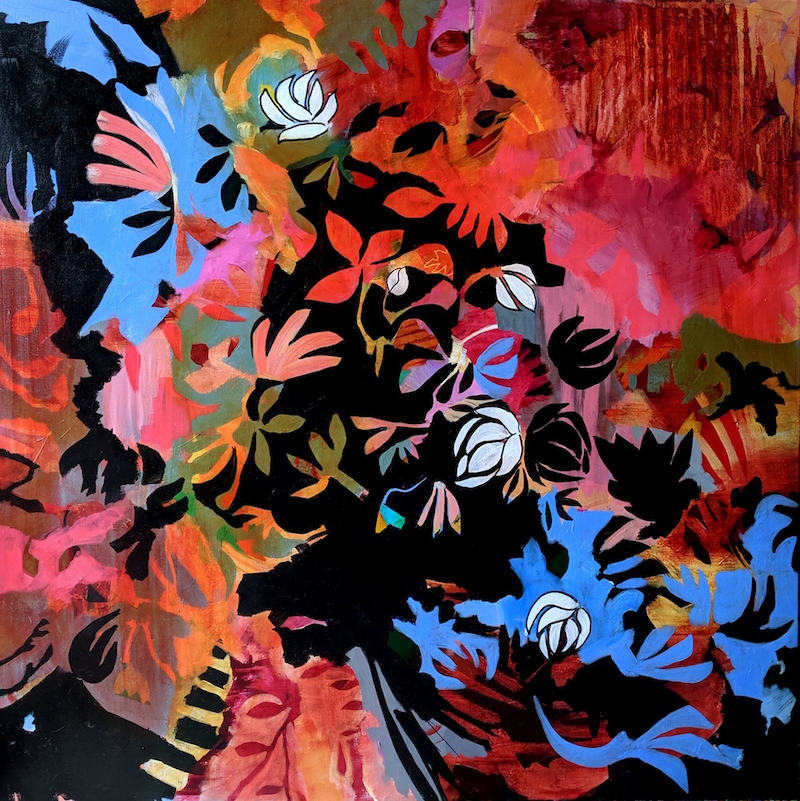 (CreativeWork) Tumbleflower by RT Wenzel. arcylic-painting. Shop online at Bluethumb.