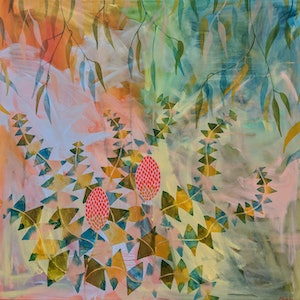 (CreativeWork) Banksia Charmer by Marinka Parnham. arcylic-painting. Shop online at Bluethumb.