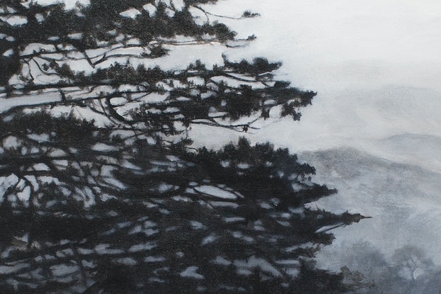 (CreativeWork) The lone pine by Michelle Angelique. Acrylic Paint. Shop online at Bluethumb.