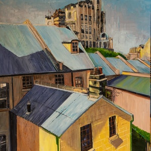 (CreativeWork) Rooftops at the rocks by Rosa d'Argent. #<Filter:0x0000563323042700>. Shop online at Bluethumb.