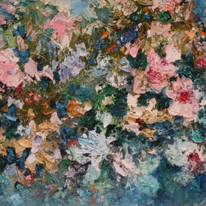 (CreativeWork)   Spring Is On It's Way -Large Canvas by Maria Cross. oil-painting. Shop online at Bluethumb.