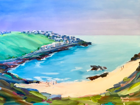 (CreativeWork) Seaside Town by Meredith Howse. #<Filter:0x00007f90609f5a68>. Shop online at Bluethumb.