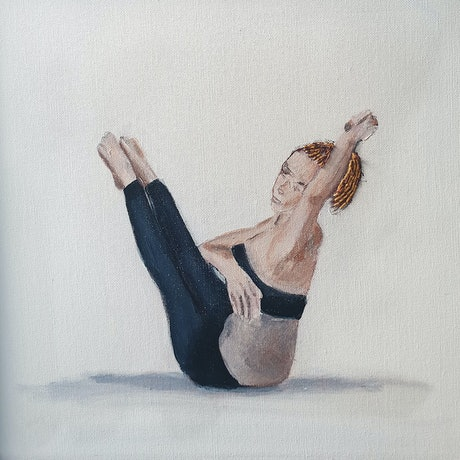 (CreativeWork) Pilates- Flowing movement POSTCODE 2011 PROPINQUITY by Mary van den Berk. Mixed Media. Shop online at Bluethumb.