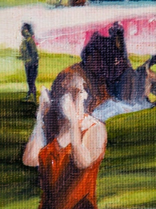 (CreativeWork) Bridesmaid by Colin Madgwick. Oil Paint. Shop online at Bluethumb.