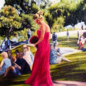 (CreativeWork) Bridesmaid by Colin Madgwick. oil-painting. Shop online at Bluethumb.