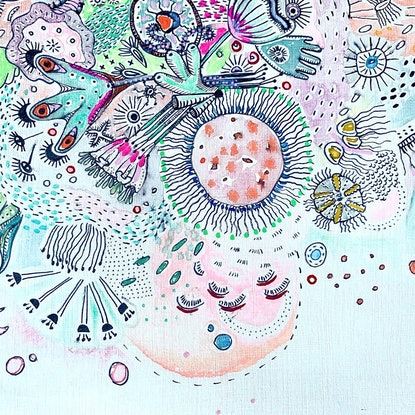 (CreativeWork) Anthozoa by Adelin Hill. Mixed Media. Shop online at Bluethumb.