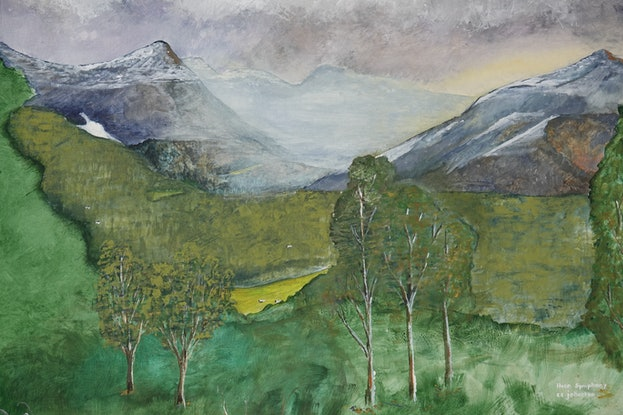 (CreativeWork) Huon Symphony by Christopher Johnston. Acrylic Paint. Shop online at Bluethumb.
